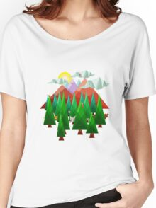 Abstract Landscape Women's Relaxed Fit T-Shirt