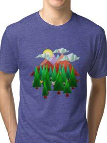 Abstract Landscape Tri-blend T-Shirt