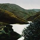 """""""Valley Guanajuato"""" - oil painting of a Mexican mountain landscape by James  Knowles"""