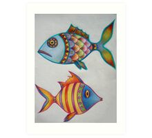 Sketchbook - Fishes (from the imagination) Art Print