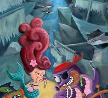 Mermaid and Pirates by colonelle