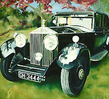 """Rolls Royce Phantom"" - oil painting of a Rolls Royce by James  Knowles"