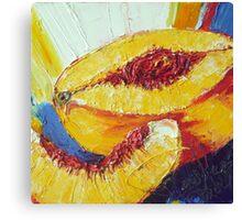 Sliced Peach Canvas Print