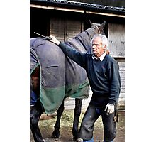 Farrier and horse portrait Photographic Print