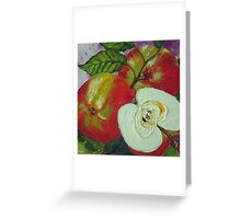 Red Jonagold Apple Greeting Card