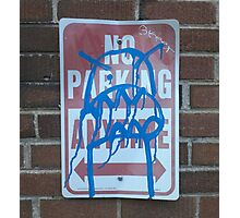 The Mighty Blue Parking Monster Photographic Print