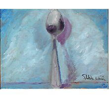 Standing Spoon Photographic Print