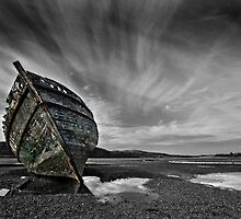 boat and sky at Dulas by ianmorjones