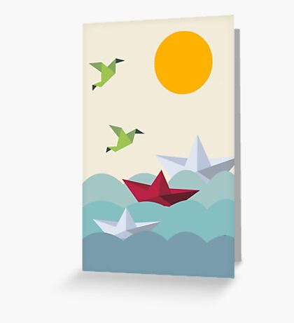 Origami World Greeting Card