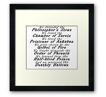 Harry Potter generation Framed Print