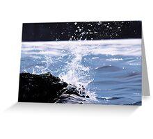"""""""Splash"""" - oil painting of a splashing wave Greeting Card"""