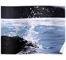 """Splash"" - oil painting of a splashing wave Poster"