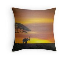 Lonley Elephant Throw Pillow