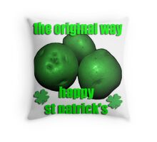 think green - potatos Throw Pillow