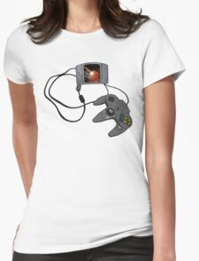 N64 Game and Controller  Womens Fitted T-Shirt