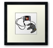 N64 Game and Controller  Framed Print