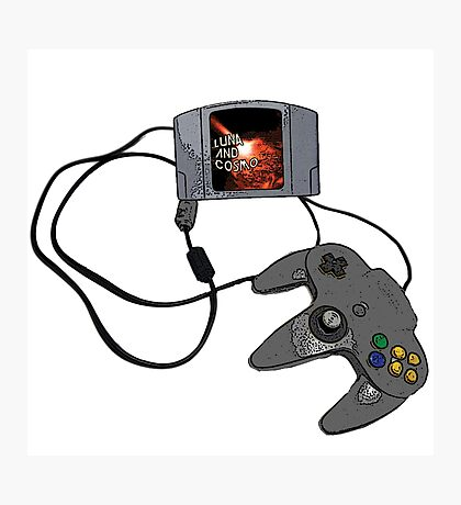 N64 Game and Controller  Photographic Print