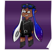 Inkling Girl - Blue/Purple Poster