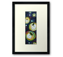 Tall Thin Fireflies Framed Print