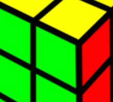 colorful rubix cube Sticker