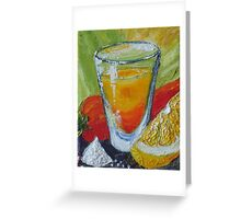 Tequila Shot and Red Chile Pepper Greeting Card