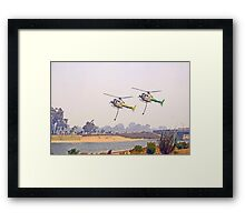 Helitankers Approaching Champion Lakes  Framed Print