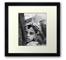 Boy of Honor Framed Print