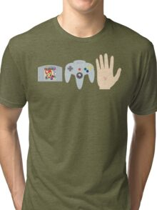 Mario Party Hand Blister Tri-blend T-Shirt