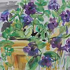 Purple Flowers in the Garden by Juliane Porter