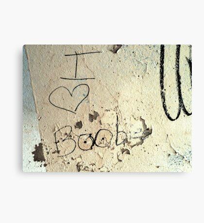 I Heart Boobies Canvas Print