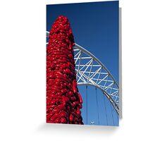 Pedestrian Bridge (Denver, Colorado) Greeting Card