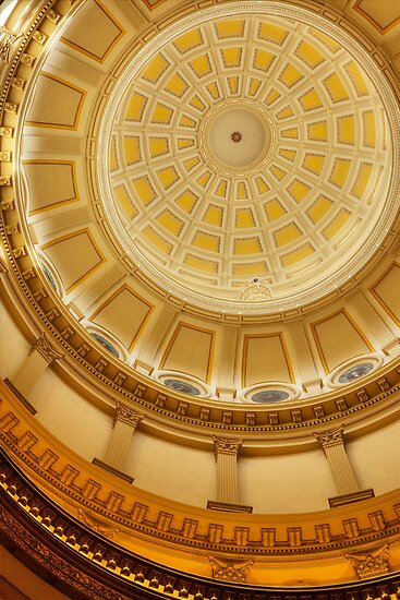Under the Dome (State Capitol Building, Denver, Colorado) by Brendon Perkins