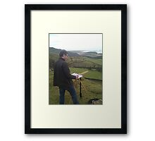 Painting on location, Wales Framed Print