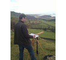 Painting on location, Wales Photographic Print