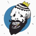 The Bearded Skull King Tee by RuffBat