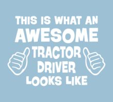 Awesome Tractor Driver Kids Clothes