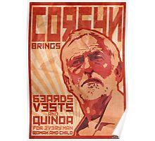 Corbyn Brings Beards, Vest and Quinoa Poster