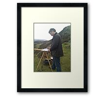 Painting on location, Wales (2) Framed Print