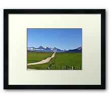 Dippy Road Framed Print