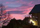 Dawn clouds from YHA Rolleston, Christchurch NZ by Odille Esmonde-Morgan