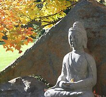 Buddha in Fall by naturalgifts