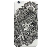 Floral Abstract Drawing iPhone Case/Skin