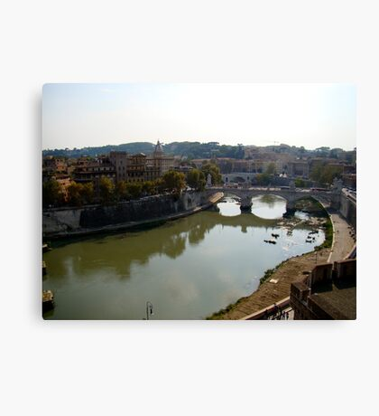 Just Around the River Bend Canvas Print