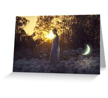 Lady Moon Greeting Card