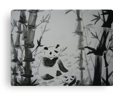 Panda snack time Canvas Print