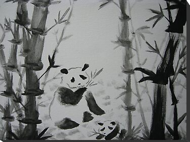 Panda snack time by Christina Hulette