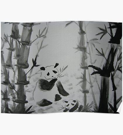 Panda snack time Poster