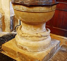 Font at St Mary The Virgin Salehurst by Dave Godden