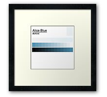 Alice Blue #eff5f8 Framed Print