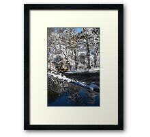 reflection waterfall Framed Print